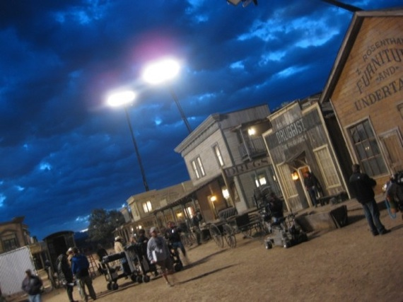 Set de rodaje de Cowboys and Aliens