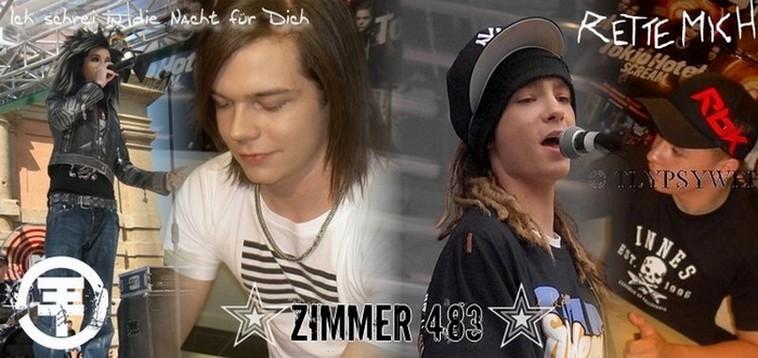Zimmer 483 dédié à Tokio Hotel