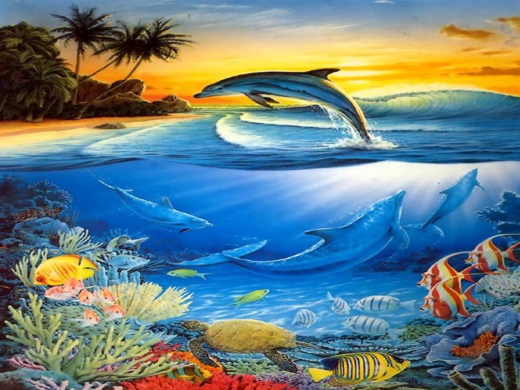 beau-fond-d-ecran-dauphins-fonds-marin-flora